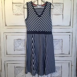 Boden Nautical Striped Sleeveless Dress US 10